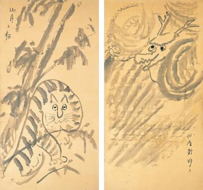 『龍虎図』 19世紀(70代前半) 永青文庫【第1期展示】